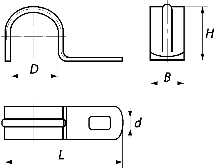 скоба однолапковая