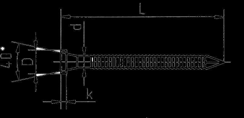 ершеный гвоздь чертеж